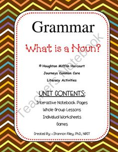 What is a Noun? Giveaway! Enter for your chance to win 1 of 3.  Grammar - What is a Noun? Journeys (21 pages) from Designs by Nawailohi on TeachersNotebook.com (Ends on on 8-16-2014)  Hi Everyone! Welcome back to the school year!  As we are all getting prepared to teach grammar and writing, here is a What is a Noun? unit giveaway! This unit includes Interactive Notebook Pages, Whole Group Lesson Plans, Worksheets for Individual work or stations, Games and a Quiz!  What is a Noun? is a weekly…