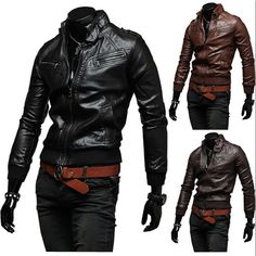 $40.98 / #Mens #Jackets Faux Fur Casual Motorcycle #Leather #Jacket - FREE SHIPPING