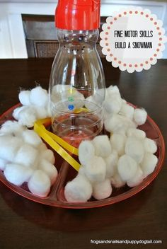 Fine Motor Skills Build A Snowman by FSPDT Christmas activity for the kids