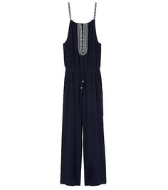 Tory Burch Embroidered Silk Jumpsuit