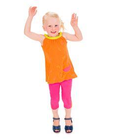 Orange Watermelon Tank & Capri Leggings - Infant Toddler & Girls