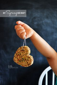 I can't wait to do this with Hunter and use a fun cookie cutter pattern!!  Spring Kid Craft: Birdseed! » Little Inspiration