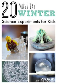 20 Must Try Winter Science Experiments for Kids... saving for later! These are the best science ideas I've seen from frozen bubbles to growing ice