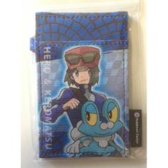 Pokemon Center 2014 Pokemon & Trainers Campaign Calem Froakie Train Pass Case