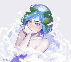 Earth-chan  by Tpiola.deviantart.com on @DeviantArt