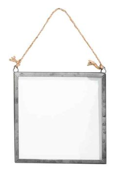 Square frame in metal and clear glass with two eyelets at top and string for hanging. Fits pictures up to 5 x Le Terrier, Metal Picture Frames, H&m Home, Metal Homes, Light Installation, Home Living Room, Living Spaces, Colorful Pictures, Cozy House