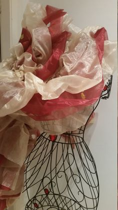 Royal Gold: Gold and Red Organza Boa by RoseVonSweet on Etsy