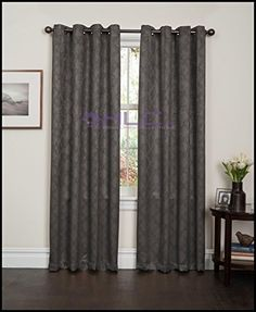 "HLC.ME Redmont Lattice Wide-Width Thermal Blackout Grommet Curtain Panel - 84"" inch Long (Grey) HLC.ME http://www.amazon.com/dp/B00QL4TYIS/ref=cm_sw_r_pi_dp_FIg9wb018AGQS"