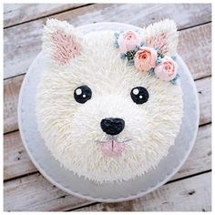 puppy cake birthday \ puppy cake for dogs ; puppy cakes for kids ; puppy cake for dogs birthdays ; puppy cake for dogs recipe ; puppy cakes for kids easy ; Pretty Cakes, Cute Cakes, Bolo Tumblr, Puppy Party, Dog Birthday, Cake Birthday, Animal Birthday Cakes, Birthday Ideas, Birthday Cakes