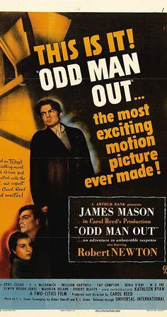 Odd Man Out - James Mason, Robert Newton, Cyril Cusack Pop Punk, Hd Movies, Movie Tv, Films, Irish Movies, James Mason, Robert Newton, Mcqueen, Carol Reed