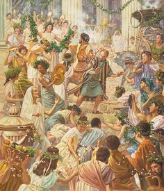 """Paul and Barnabas resist adulation in Lystra. Public sacrifices were usually colorful and noisy occasions with lots of music. """"Turn from these vain things to the living God, who made the heaven and the earth.""""—Acts 14:15"""
