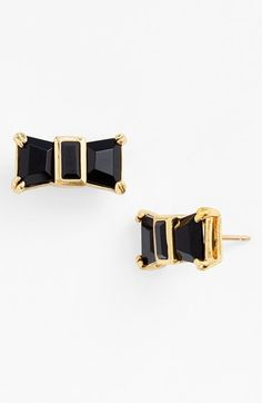 Free shipping and returns on kate spade new york 'jackpot jewels' bow stud earrings at Nordstrom.com. Versatile black-and-gold stud earrings form perky little bows.