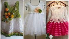 Çocuk Elbiseleri Örgü Modelleri