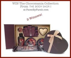 Canadians WIN The Full Chocomania Collection from The Body Shop at FacesByFarah.com The Body Shop, Shopping, Collection