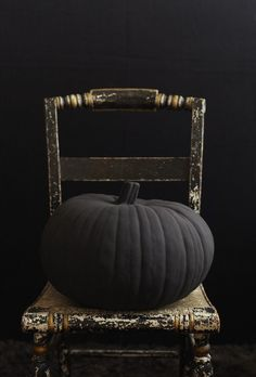 A black pumpkin? Yes!  Simple Everyday Glamour: When Witches Go Riding....