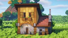 Minecraft Building Guide, How To Play Minecraft, Minecraft Crafts, Minecraft Ideas, Building Ideas, Modern Minecraft Houses, Minecraft Creations, Survival, Cozy