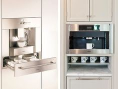 I would die to have one of these Gaggenau Miele Coffee Stations | Remodelista
