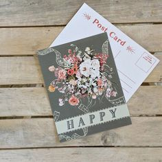 Happy Post Card - Vintage-Inspired