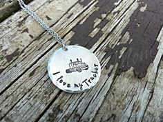 Hey, I found this really awesome Etsy listing at https://www.etsy.com/listing/272735332/i-love-my-trucker-necklace-trucker-wife
