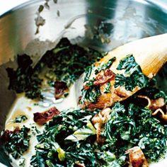 Gräddstuvad grönkål med bacon Healthy Food Options, Raw Food Recipes, Wine Recipes, Vegetarian Recipes, Cooking Recipes, Healthy Recipes, Food From Different Countries, Clean Eating, Food Porn