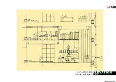 Lobby Bar, Architecture Plan, Floor Plans, Hand Painted, How To Plan, Floor Plan Drawing, House Floor Plans