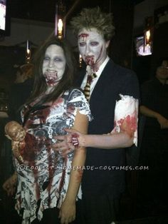 Scary Pregnant Zombie Halloween Costume... This site is the Pinterest of costumes