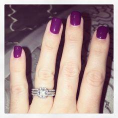 Purple nails for #manimonday via Ritani Facebook