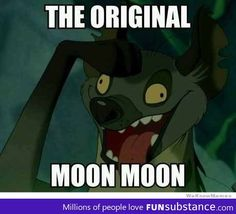"""I've seen a lot of references to """"Moon Moon"""" so I finally googled it to get more info - if you are, like me, not in the know with Moon Moon, I recommend you do the same. Funny!"""