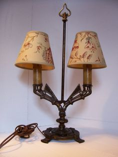 Art Deco cast iron Table Lamp by trufflepigtreasures on Etsy, $85.00