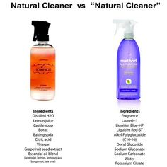 """What's in your """"natural"""" cleaner? Don't be fooled by green marketing. Just because it says on the bottle it's natural or non-toxic doesn't mean it actually is. One of my goals for the Mrs. Jones' Soapbox line was to use ordinary ingredients. Things you could pronounce and recognize. Just because you have it in your kitchen cabinets doesn't mean it can't kick ass at cleaning. Nature gave us everything we need!!"""
