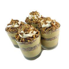 One Perfect Bite: Irish Cream Pudding Parfait with a Pecan Crunch Just Desserts, Delicious Desserts, Yummy Food, Irish Cream, Jello Pudding Desserts, Pudding Recipes, Fruit Recipes, Dessert Recipes, Pudding
