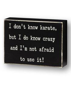 'Not Afraid to Use It' Box Sign #zulily #zulilyfinds