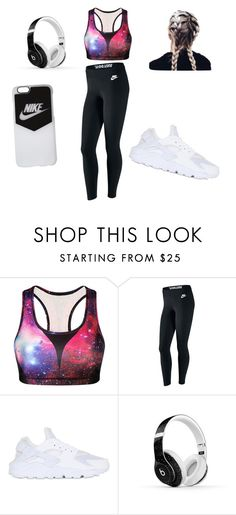 """outfits 31"" by estefeni-argueta ❤ liked on Polyvore featuring beauty, NIKE and Beats by Dr. Dre"