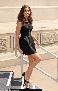 Irina Shayk in Azzedine Alaia dress and Christian Louboutin shoes - Promoting her debut movie 'Hercules' at Trafalgar Square in London. (July 2014)