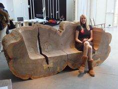 Gigantic Tree Trunk Benches Made From Recovered Elms Pop Up in...
