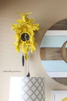Painted Yellow Cuckoo Clock: tutorial
