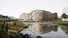 Architecture studios Jakob+MacFarlane and T.ark have designed a low-carbon cross-laminated timber building called Living Landscape that will transform a landfill site in Iceland's capital city.