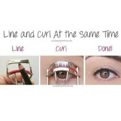 Easy way to put on eyeliner
