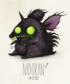 Nidoran♂#032  (Tim Burton Inspired Pokemon Re-Design)