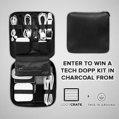 I'm entered to win a Charcoal Tech Dopp Kit from @thisisground and @lootcrate!