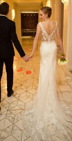 Wedding Dresses : Lace back Wedding Dress by Kelly Faetanini Fall 2017 - #weddingdresses https://talkfashion.net/wedding/wedding-dresses/wedding-dresses-lace-back-wedding-dress-by-kelly-faetanini-fall-2017/