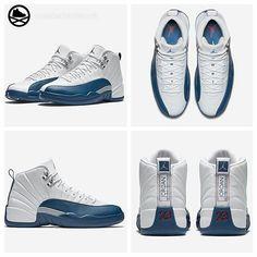 "repost via @instarepost20 from @sneakerbardetroit Air Jordan 12 Retro ""French Blue"" Release Details & Official Images on #SNEAKERBARDETROIT.com #instarepost20"