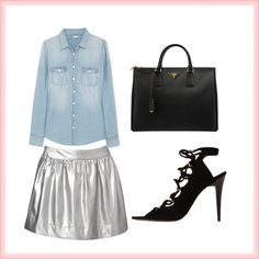 """""""Blue+Silver"""" by arlethmajerowicz on Polyvore"""