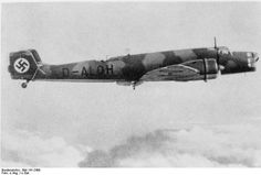 """fcba: """" Ju 86 bomber in flight in 1936/37. The Ju 86 was the competitor of the He 111 for the Luftwaffe's newest bomber that could pose as an airliner as to hide from the Treaty of Versailles. (Bundesarchiv) """""""