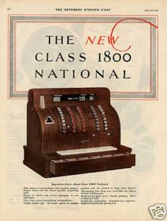 National Cash Register Color Ad 2 Page (1926)