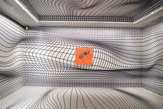 Peter Kogler'in Dirimart için tasarladığı sergi Peter Kogler, Amazing Architecture, Architecture Design, Artistic Installation, Illusion Art, Villa Design, Fantastic Art, Optical Illusions, Line Art