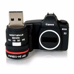 pen drive personalizado câmera canon - 16gb