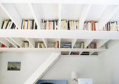Creative way to store books - Ceiling