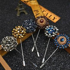 Find More Brooches Information about 15 Colors Fashion Daisy Flower Lapel Pins, Beaded Floral Men Lapel Pin, Crystal Men Brooch for Suits Handmade Stick Brooch Pins,High Quality brooch china,China brooch watch Suppliers, Cheap flower decor from Fashion Accessory Boutique on Aliexpress.com