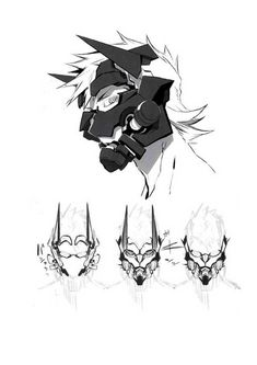Fate/Grand Order artbook of Miwa Shirow (illustrator of Brynhildr and Sigurd) Robot Concept Art, Weapon Concept Art, Armor Concept, Character Design References, Character Art, Fantasy Character Design, Art Sketches, Art Drawings, Illustrator